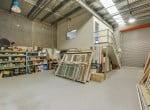 Warehouse facing roller door closed web