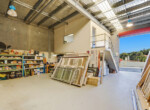 Warehouse facing roller door open web